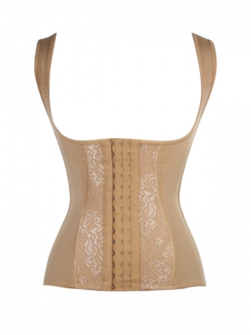 Steel Boned Body Shaper Lace Waist Cincher Training Corset
