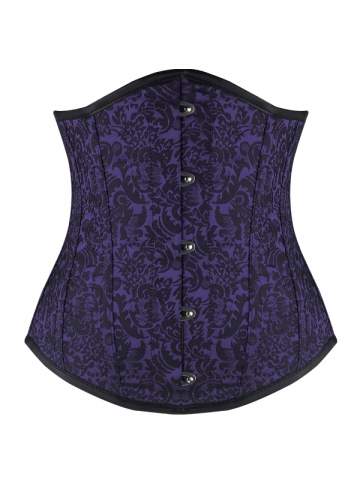 Purple Dobby 14 Steel boned Waist Cincher Steampunk Corset