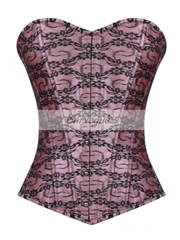Elegant Women Lace Bustier Overbust Corset Tops Wholesale