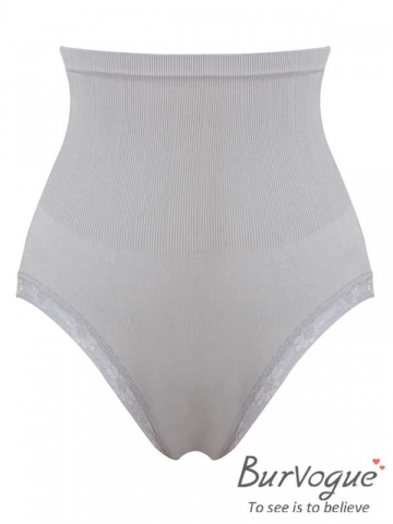 Grey High Waist Body Shaper Seamless Shapewear For Women