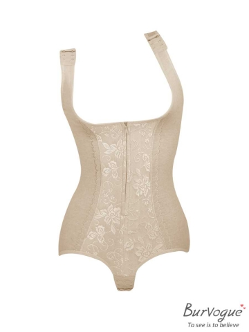 Plus Velvet Seamless Lace Underbust Body Shaper Bodysuits