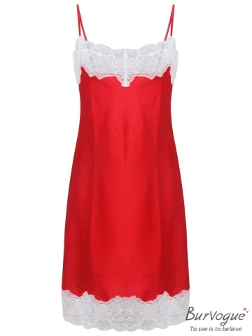 Charming Silk Sleeveless Nightgowns Lace Sleepwear Lingerie