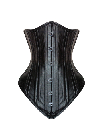 20 Steel Boned Long Underbust Leather Waist Training Corsets