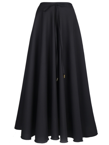 Vintage Summer Beach High Waist Long Chiffon Maxi Skirts