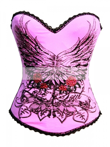 Pink Pin-up Fashion Hot Sale Women Corset Top Wear