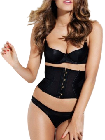 Satin Waist Cincher Training Corset Belt With Back 3 Hook