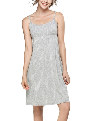 Polka Dot Modal Nightgowns Sleeveless Slip Dress Sleepwear