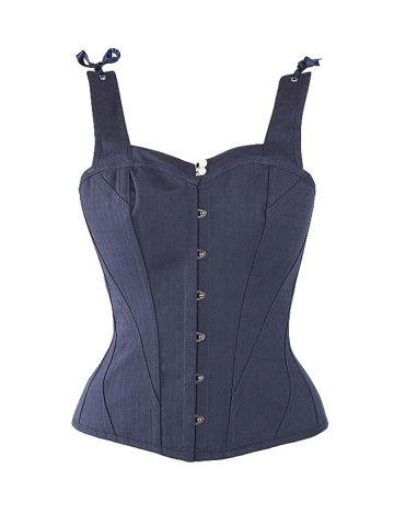 Plus Size 10 Steel Bones Overbust Corsets Tops With Straps