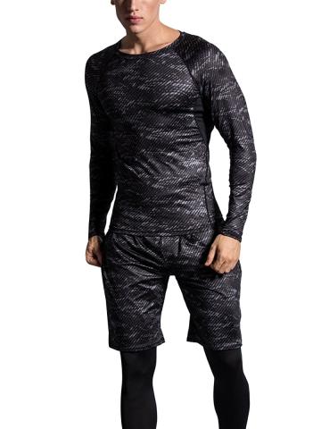 3 Pieces Men's Compression Shapewear Sport Running Sets