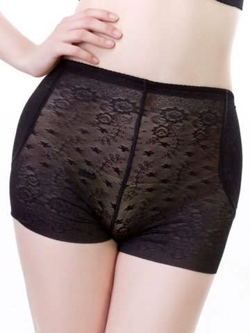 Women's Lace Padded Panties Enhancer Butt Lifter Body Shaper