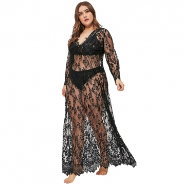 Sexy lace Women lingerie Plus size underwear sleepwear dress