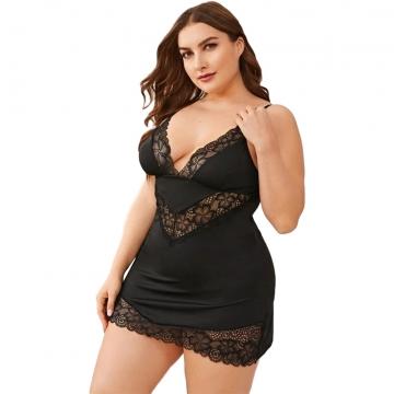 Lady Plus size Sleepwear Dress Ladies lingerie Sexy Chemises
