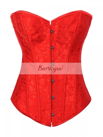 Noble Red Wholesale Flora Overbust Corset Wholesale