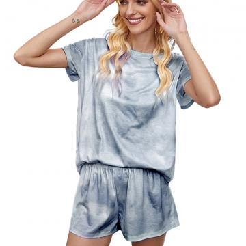 Summer Nightgown Pajamas Short Sleeve Casua Ladies Sleepwear