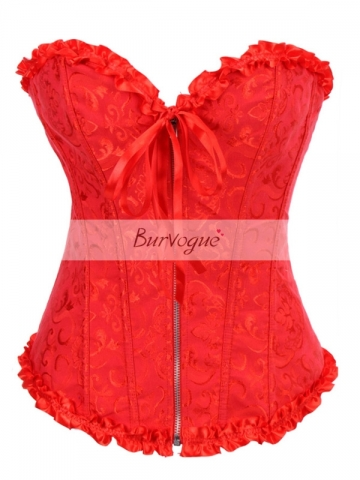 Red Front Zipper Hot Sale Wholesale Corset