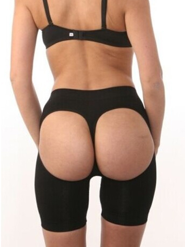 Black Butt Lifter Waist Tummy Control Boyshort Panties