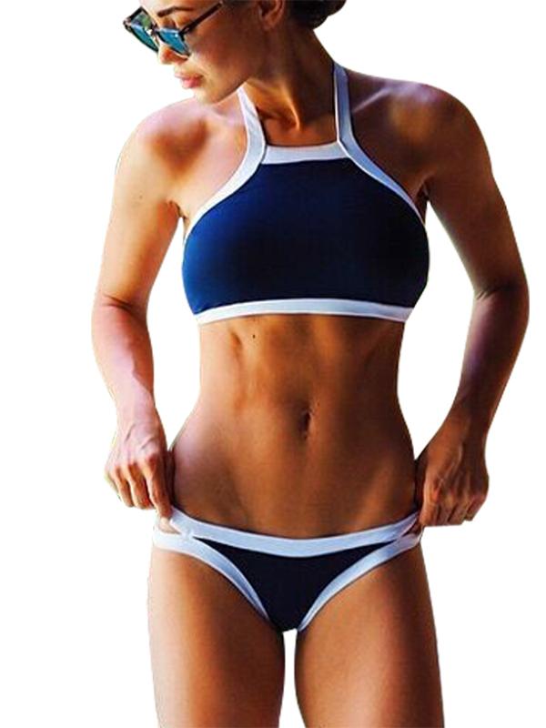 Women Halter Bikini Sports Tankini Swimwear Wholesale