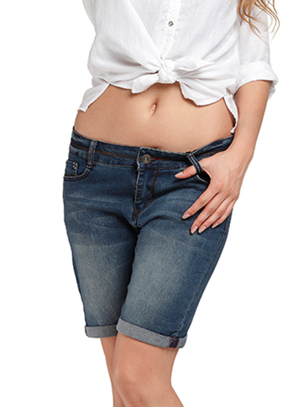 Womens Slimming Butt Lifting Jeans Skinny Denim Shorts