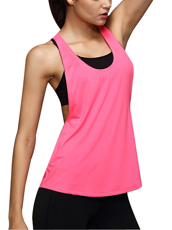 Women Racerback Fitness Sleeveless Vest Workout Tank Tops