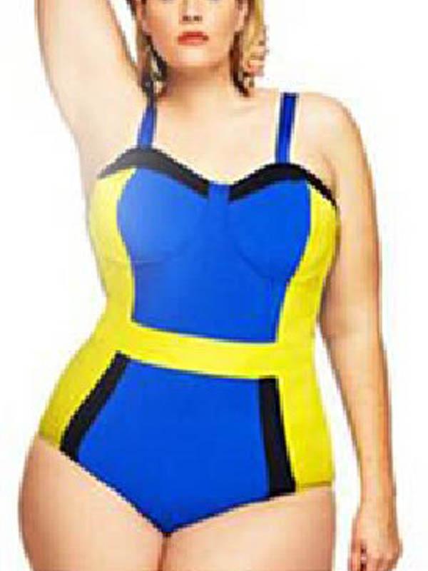 Plus Size Swimwear Sexy One Piece Swimsuit Bathing Suits