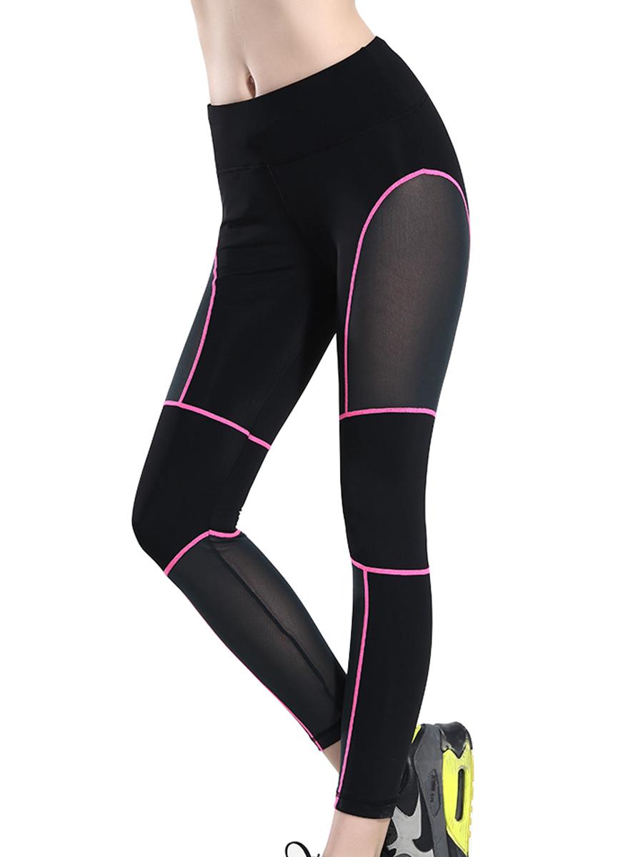 Womens Slimming Yoga Running Pants Elastic Sports Leggings