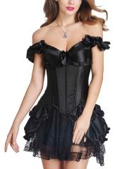 new vintage overbust corset dress costumes wholesale