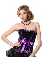 Elegant Purple Flannel Corset For Wholesale