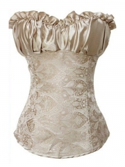 Noble Champagne Party Queen Women  Corsset Bustier
