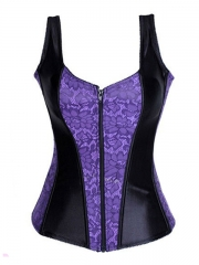 Noble Strap Purple Corset With High Quality Zipper