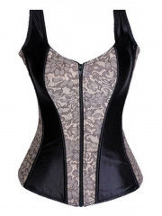 Hot Sale Vogue Purple Overbust Strap Corset Wholesale