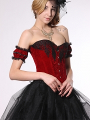 Wholesale Elegant Beautiful Red Soft Fleece Women Corset