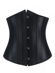 Useful Lady Bustier Black Underbust Steel Boned Corset
