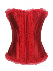 Fashion Corsets Burlesque Ruffle Mesh Whoesale Corselet