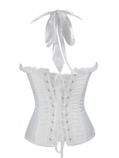 Women Satin Neck Halter Bustier Bridal Corset Tops Wholesale