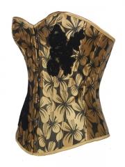 Mature Women Corset Tops Flower Pattern Shapewear Corset