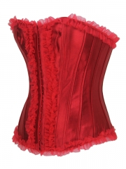 Red Corset Tops Overbust Body Shaping Women Corset