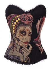 Burlesque Corset Wonder Women Cotton Training Corset Tops