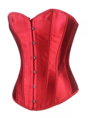 Hourglass Corset For Women Overbust Satin Corset Tops
