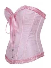 Women Shapewear Corset Pink Elegant Training Corset Tops