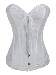 White Corset Tops Bridal Use Women Bustier Corsets