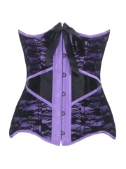 Satin With Lace Underbust Steel Bone Corset for Women