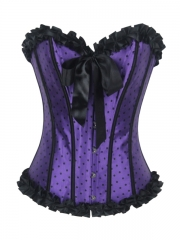 Purple Candy Sweet Girl Overbust Corset Tops Wholesale