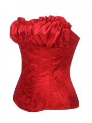 Red Noble Party Queen Women Overbust Corset Tops Wholesale