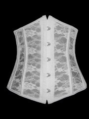 White Lace Wholesale Bridal Underbust Corset Bustier