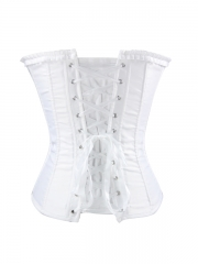 Pure White Prom Women Overbust Bridal Corset Tops