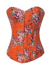 Fashion Orange Jean Ladies' Outwear Corset