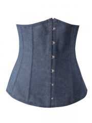 High Qulity Blue Denim Women Underbust Corset