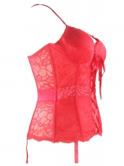 Hot Red Super Fashion Bridal Lace Corset For Wholesale