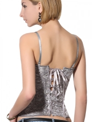 Noble Grey Party Queen  Overbust Outwear Corsset
