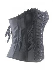 Black Stone Elegant Women Overbust Corset Tops